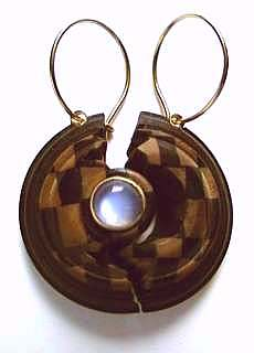 chequered earrings
